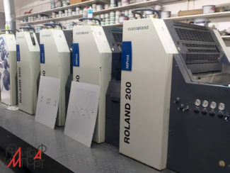 5 краска с лаком Roland 205 HiPrint Inline Coater smart (2008)